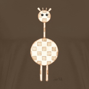 GIRAFFE BROWN - Men's Premium T-Shirt