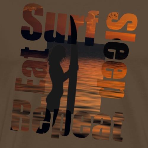 Eat.Surf.Sleep.Repeat_Sunset - Mannen Premium T-shirt