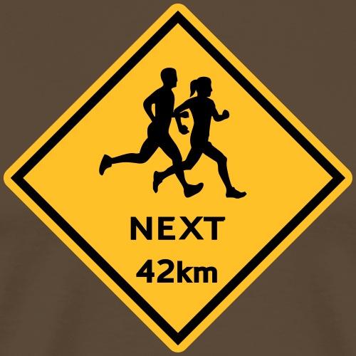 Running man woman 42km - Männer Premium T-Shirt