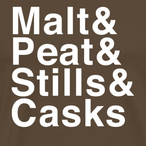 Malt & Peat & Stills & Casks - Men's Premium T-Shirt
