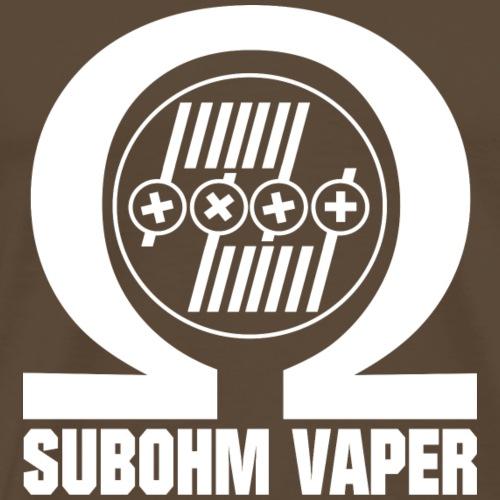 Subohm Vaper (weiß) - Männer Premium T-Shirt