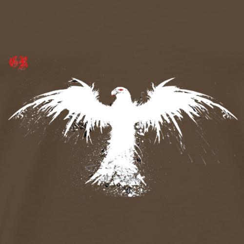 Rabe Weiss - Männer Premium T-Shirt