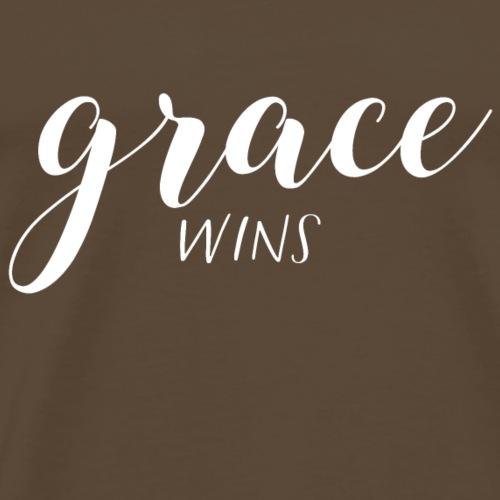 Grace wins christliches christen Jesus Geschenk - Männer Premium T-Shirt