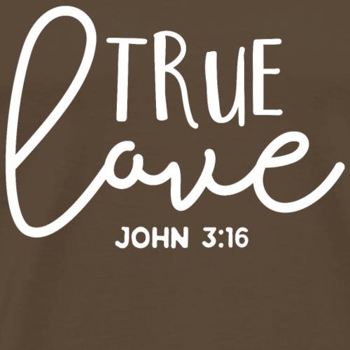 True love christliches christen Jesus Geschenk - Männer Premium T-Shirt