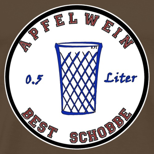 Apfelwein, Bembel, Äppler, Äbbelwoi - Männer Premium T-Shirt