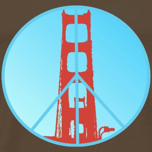 Golden Gate Peace - Männer Premium T-Shirt
