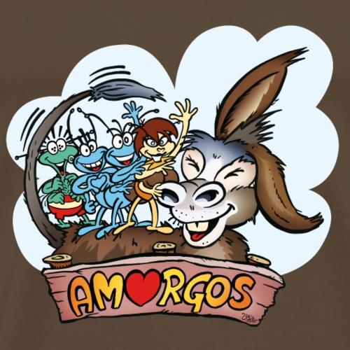 Anton & Beton Amorgos Esel Donkey - Männer Premium T-Shirt