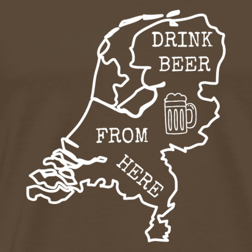 Vintage Drink Beer from here. HOLLAND.Netherlands - Men's Premium T-Shirt