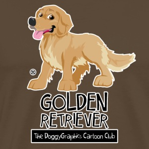 Golden Retriever CartoonClub - Men's Premium T-Shirt