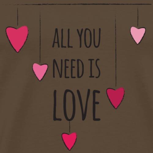 IdealMente SanValentino AllYouNeed - Maglietta Premium da uomo