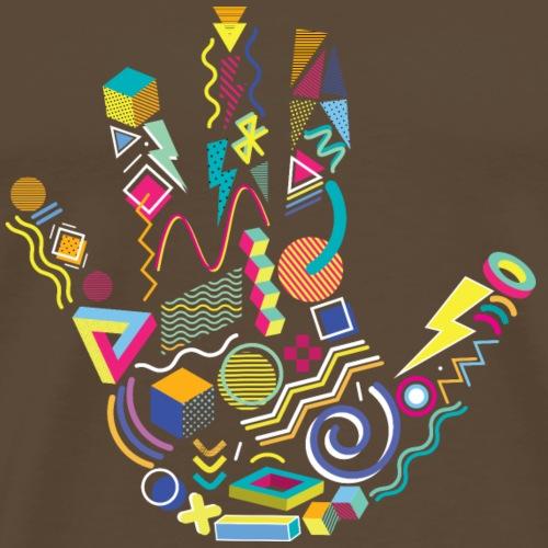 eighties hand - Men's Premium T-Shirt