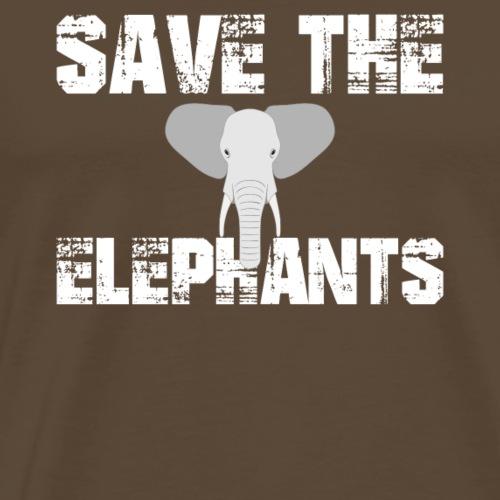 Rettet die Elefanten Tierschutz Artenschutz Umwelt - Männer Premium T-Shirt