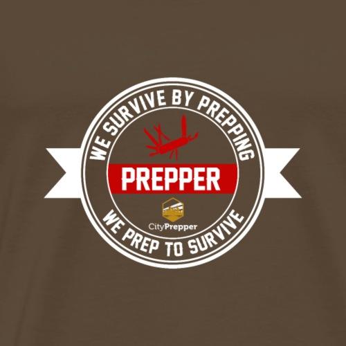 We Surive by Prepping We Prep to Surive 2 - Männer Premium T-Shirt