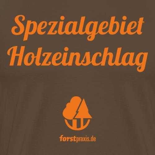 forstpraxis Holzeinschlag orange - Männer Premium T-Shirt