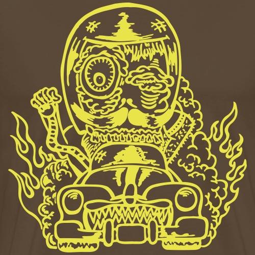 Hot Rod Monster mit Bart. (Motivfarbe änderbar!) - Männer Premium T-Shirt