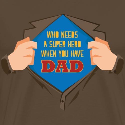 IdealMente FestaPapa Hero - Maglietta Premium da uomo