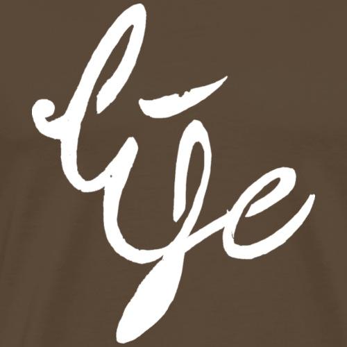 Life Logo simple white - T-shirt Premium Homme