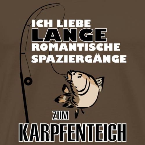 Ich liebe romantische Spaziergänge zum Karpfenteic - Männer Premium T-Shirt