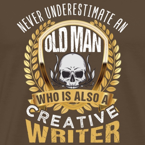 Creater Writer Old Men - Männer Premium T-Shirt