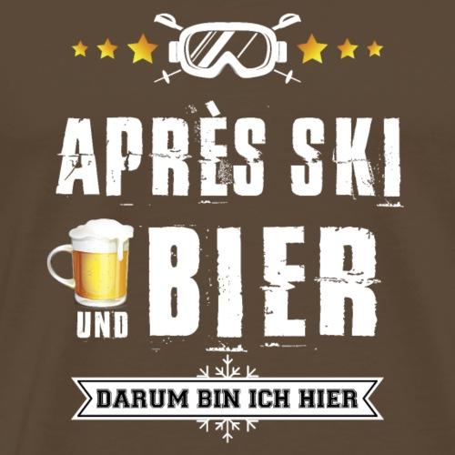 skifahren winter ski apres-ski geschenk party bier - Männer Premium T-Shirt
