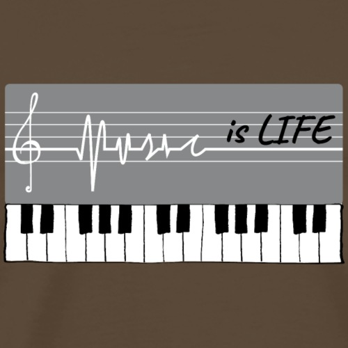 Piano music is life - T-shirt Premium Homme