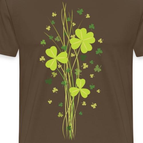 Shamrock. Lucky Clover - Men's Premium T-Shirt