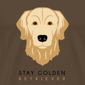 Golden Retriever - Dark - Männer Premium T-Shirt