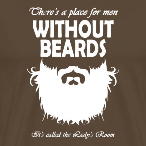 Without beards - Männer Premium T-Shirt