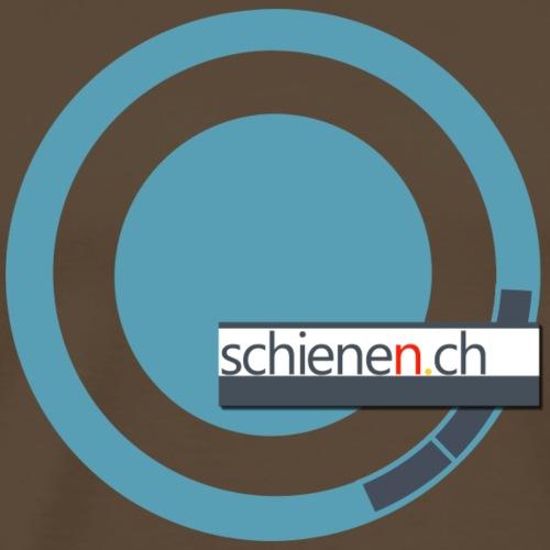 Logo «schienen.ch», blau-grau - Männer Premium T-Shirt