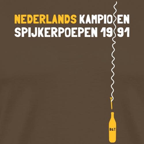 Nederlands kampioen spijkerpoepen 1991 - Mannen Premium T-shirt