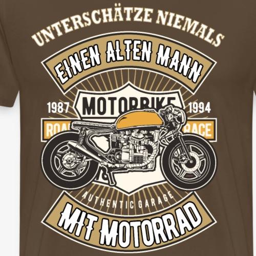Alter Mann Motorrad Motorradfahrer - Männer Premium T-Shirt