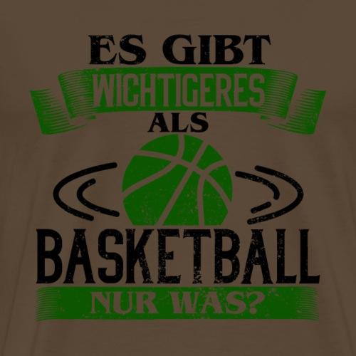 Es gibt wichtigeres als Basketball - Grün - Männer Premium T-Shirt