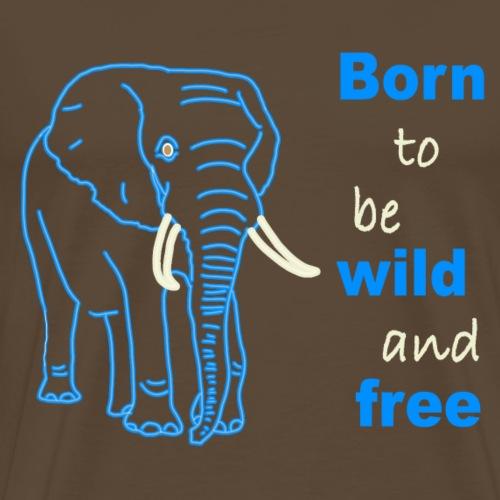 Elefant auf Englisch - Männer Premium T-Shirt