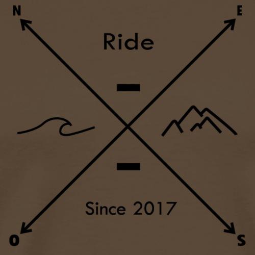 ride boussole black - T-shirt Premium Homme