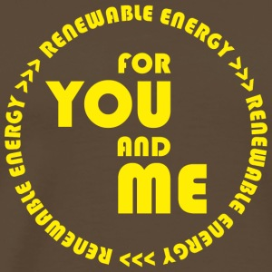 RENEWABLE energy for you and me - yellow - Männer Premium T-Shirt