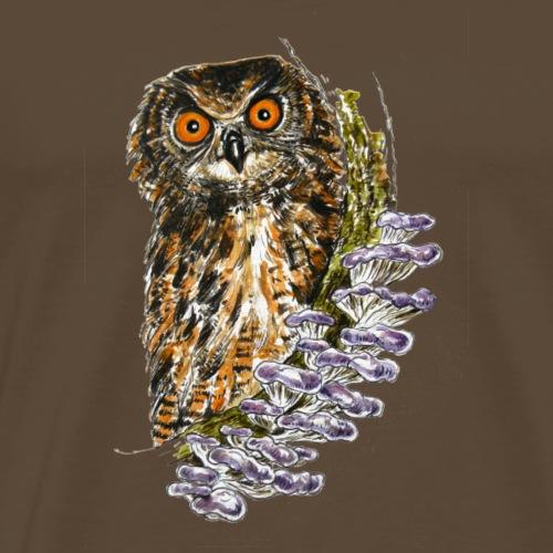Eule / Pilze / Wald - Männer Premium T-Shirt
