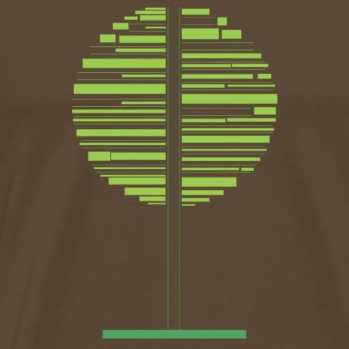 Grønt tre - Premium T-skjorte for menn
