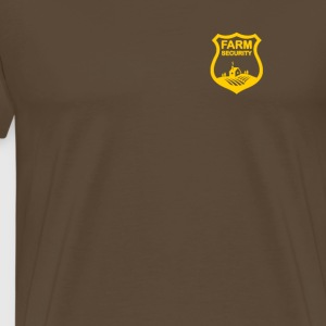 Farm Security Guard, ranch lille guld badge skjold - Herre premium T-shirt