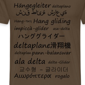 Hang gliding in several languages - Men's Premium T-Shirt