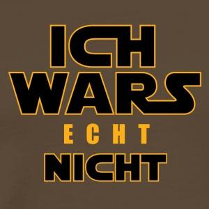 ICH WARS echt NICHT - Männer Premium T-Shirt