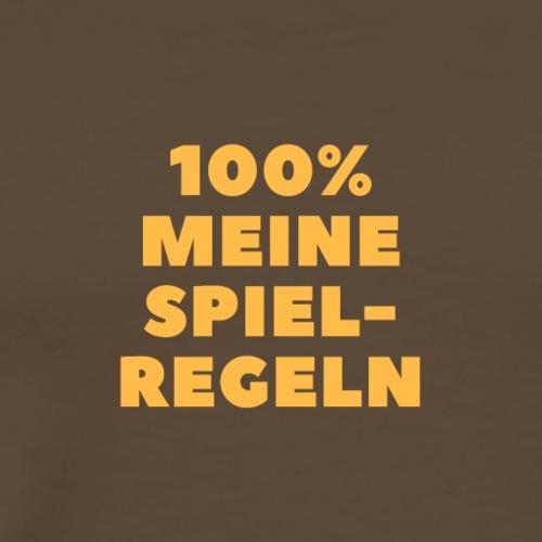 100% meine Spielregeln - orange - Männer Premium T-Shirt