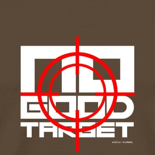 NO GOOD TARGET - VIZIER - WIT - Mannen Premium T-shirt