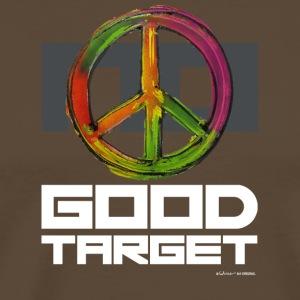 NO - GOOD TARGET is PEACE - Mannen Premium T-shirt