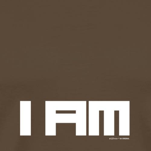 TEKST I AM WIT - Mannen Premium T-shirt