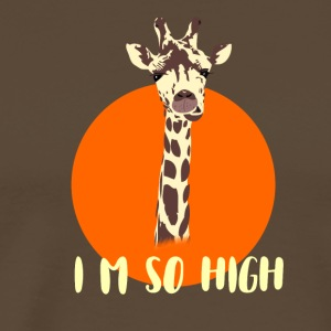 giraffe high high irony demanding gamer nerd geek - Men's Premium T-Shirt