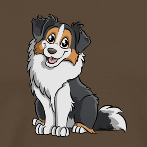 Black Tricolor Australian Shepherd - Men's Premium T-Shirt