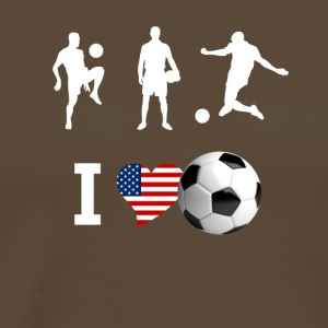 I love football sport heart port usa america player - Men's Premium T-Shirt