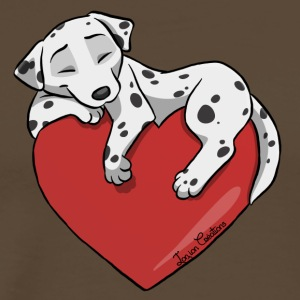 Dalmatian Heart - Men's Premium T-Shirt