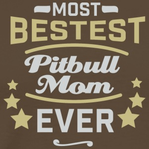PITBULLMOM - Premium T-skjorte for menn