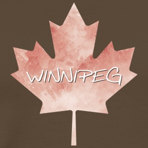 Maple Leaf Winnipeg - Premium T-skjorte for menn